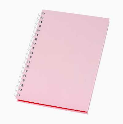 HARDCOVER NOTEBOOK, PINK