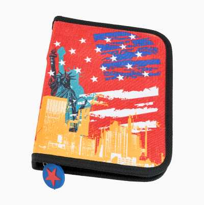 PENCASE INCL CONTENT RED NY