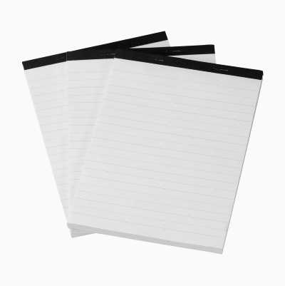 NOTEPAD A5, 3PCS