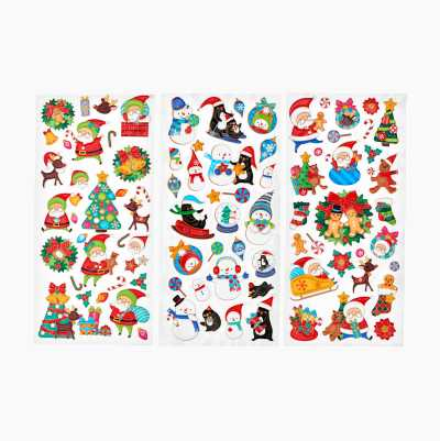 X-MAS STICKERS ASSORTED