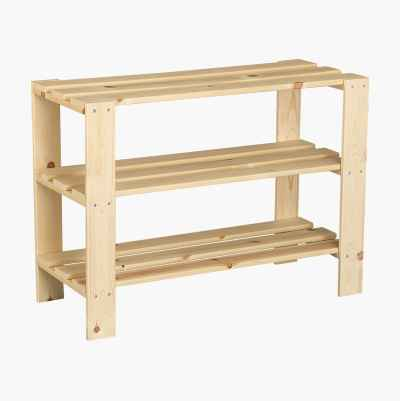 WOODEN SHOE STORAGE 3 SHELVES