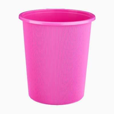WASTEPAPERBASKET PLASTIC PINK