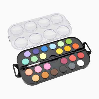 WATERCOLOURS WITH BRUSH 24