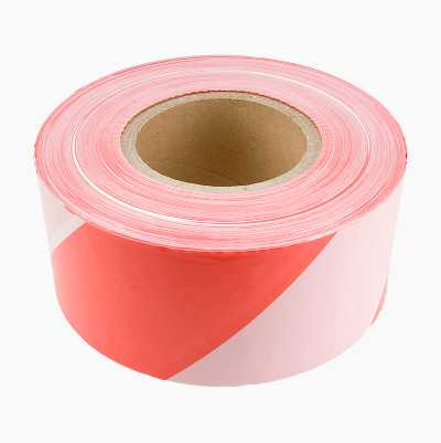 WARNINGTAPE RED/WHITE 500M