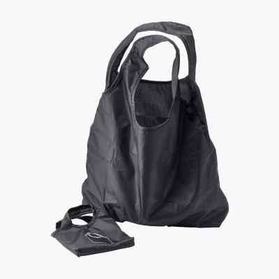 FOLDABLE SHOPING BAG BLACK