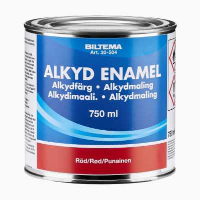 ALKYL ENAMEL RED 0,75L