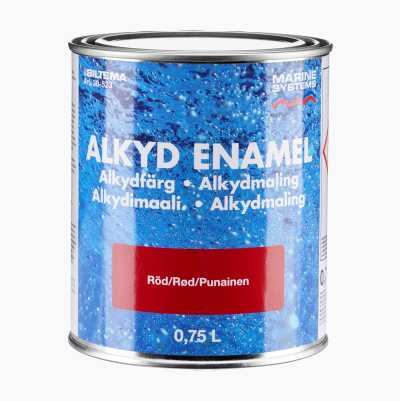 ALKYL ENAMEL RED 0,75L