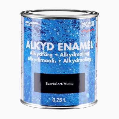 ALKYD ENAMEL BLACK 0,75L