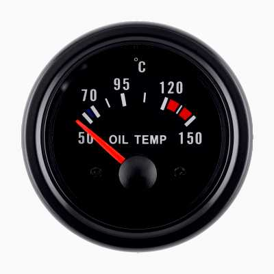 BLACK GAUGE OIL TEMP