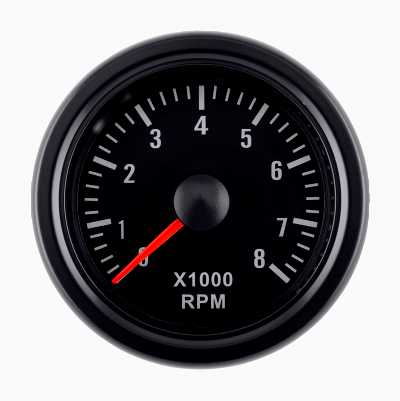 BLACK GAUGE RPM
