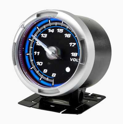 GAUGE 60 MM BLUE VOLT