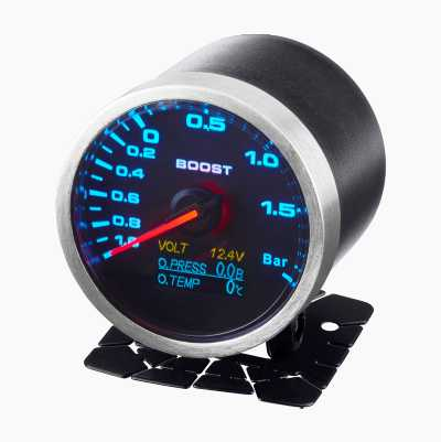 GAUGE,INCLUDE BOOST,VOLT,OIL P