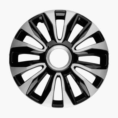 "14"" SILVER/BLACK WHEEL COVER"
