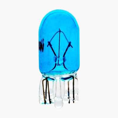 BULB 12V 5W BLUE T10 2PCS