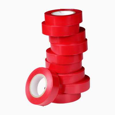 PVC-TAPE RED 10PCS 15MMX10M