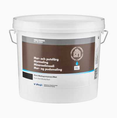 WALL & GROUT PAINT,3L.,BLACK