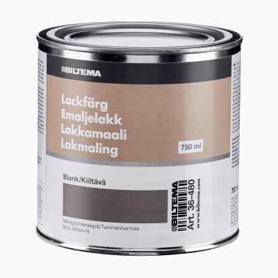 LACKFÄRG 0.75L, MÖRK GRÅ BLANK
