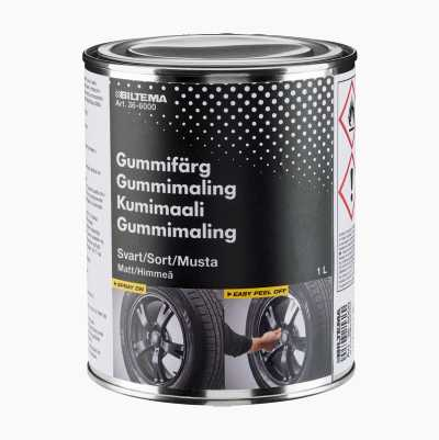 RUBBER PAINT BLACK MATT 1L