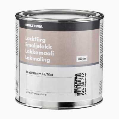 LACKFÄRG 0.75L, VIT MATT