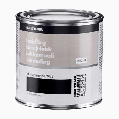 ENAMEL PAINT 0.75L,BLACK MAT
