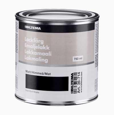 LACKFÄRG 0.75L,SVART MATT