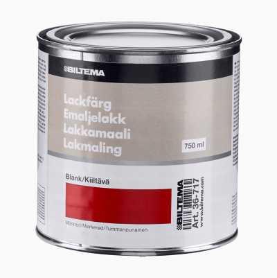 EMALJELAKK 0.75L MØRKERØDBLANK