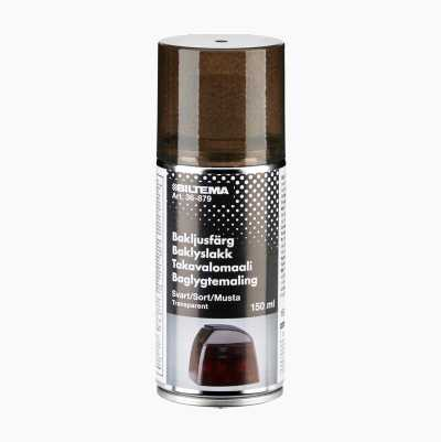 SPRAY PAINT TRANSP BLACK 150ML