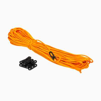 PARACORD 30M/ 10BUCKLES ORANGE