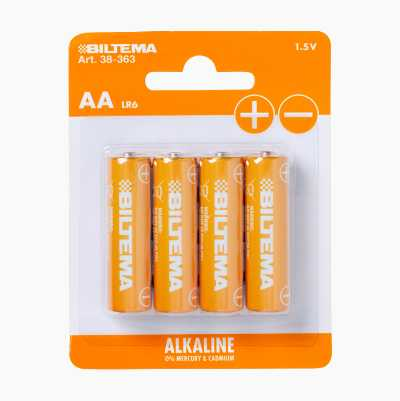 ALKALINE AA 1.5V LR6 4PCS