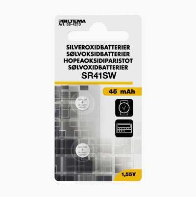 SILVEROXIDBATTERIER 1,5 V SR41