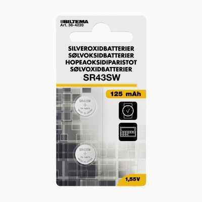SILVEROXIDE SR43 1,5V 2-PACK