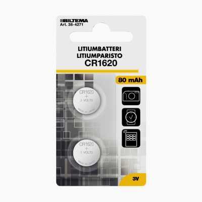LITIUMBATTERI CR1620 3V 2-STK