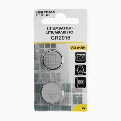 LITHIUMBATTERI CR2016 3V