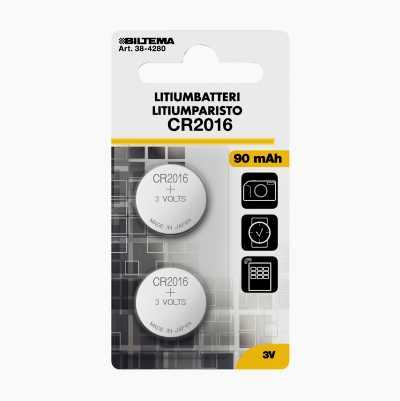 LITIUMBATTERI CR2016 3V 2-STK