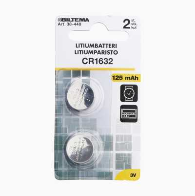 CR 1632 16X3,2MM 125MAH 3V LIT