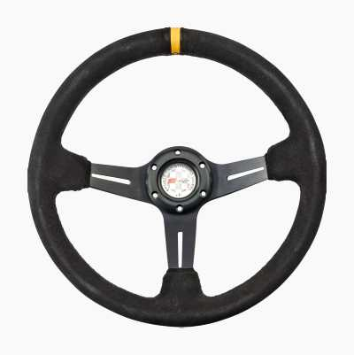 STEERING WHEEL RALLY BLACK