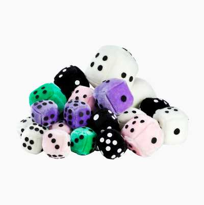 FUZZY DICE MINI VIT 7 X 7