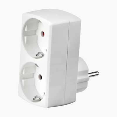 ADAPTER 2-WAY SCHUKO