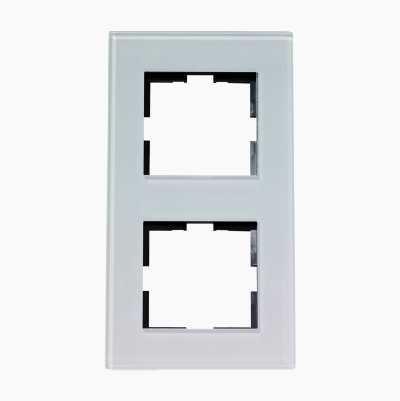DESIGN DOUBLE GLAS FRAME WHITE