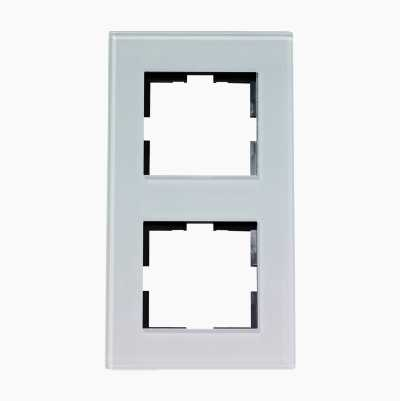 DESIGN DOUBLE GLAS FRAME WHITE