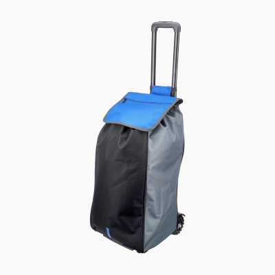SHOPPING BAG WITH WHEELS BLUE