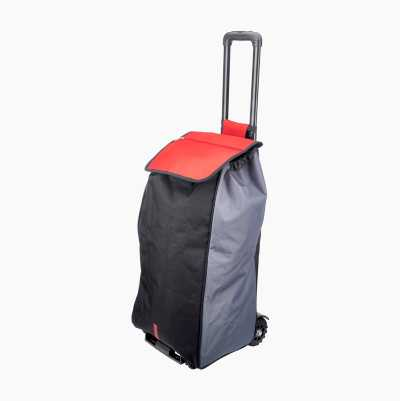 SHOPPING BAG WITH WHEEL RED