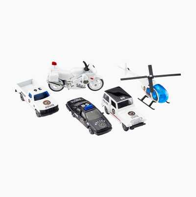 POLICE DIECAST CARS 5-PACK