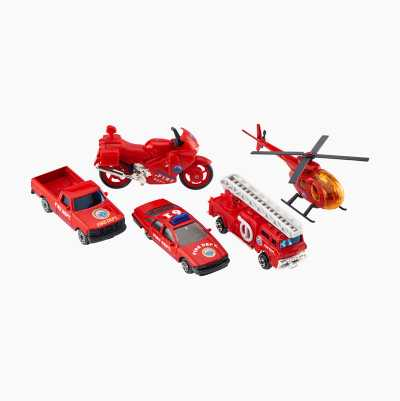 FIRE DEP DIECAST CARS 5-PACK