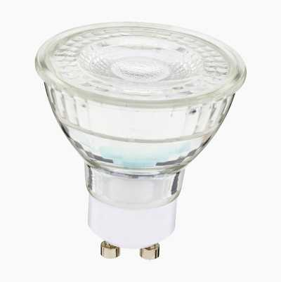 450LM DIMMABLE GLASS GU10 3-PA