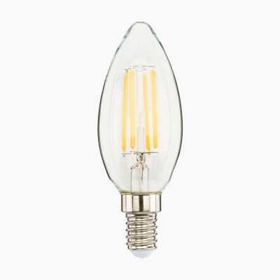 CANDLE E14 CLEAR DIMMABLE 470L