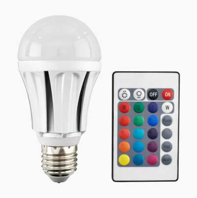 RGB LED E27 WITH REMOTE