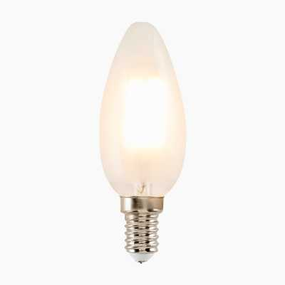 470LM E14 FROSTED CANDLE FILAM