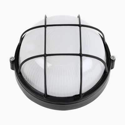 OUTDOOR LAMP ROUND 60W BLACK