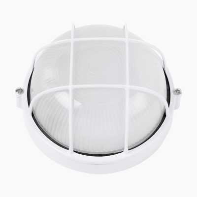 OUTDOOR LAMP ROUND 60W WHITE